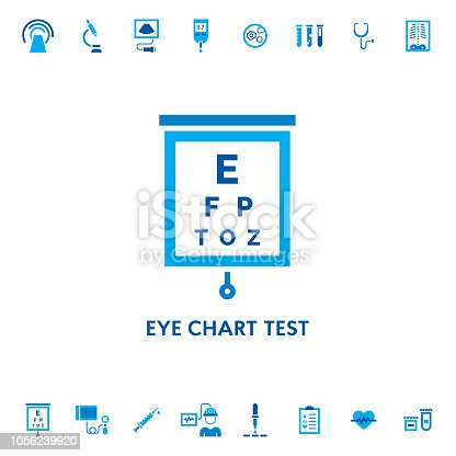 Eye Chart Test Vector Icon Stock Vector Art More Images Of