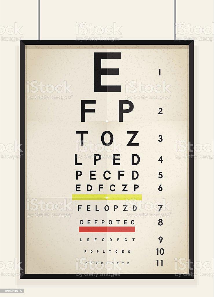 Eye Chart royalty-free stock vector art