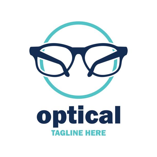 eye clinic icon - optometrist stock illustrations, clip art, cartoons, & icons