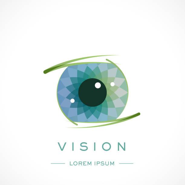 eye design logo vorlage und text - auge stock-grafiken, -clipart, -cartoons und -symbole