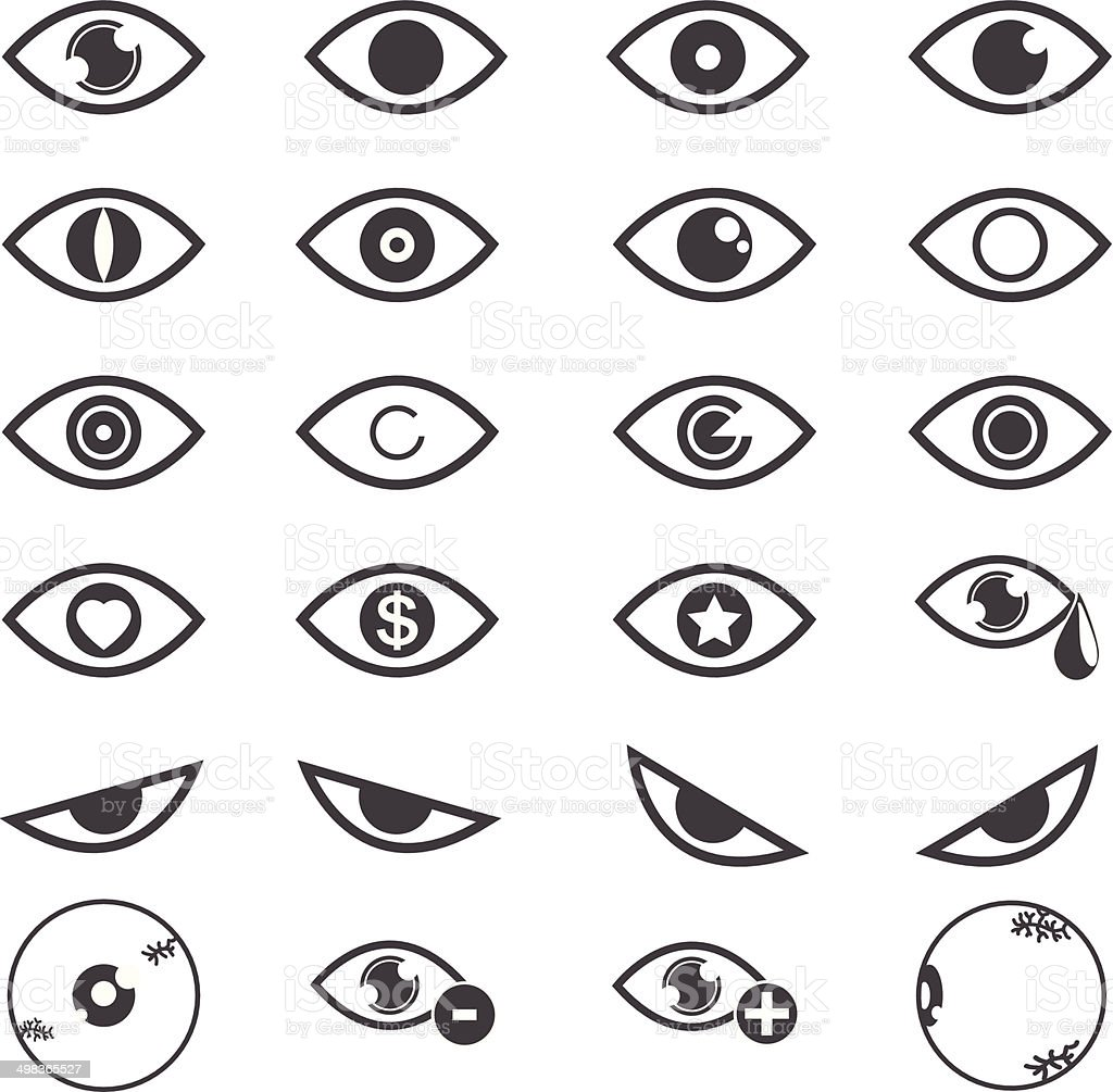 Eye designs over white background. vector  illustrations EPS10 vector art illustration