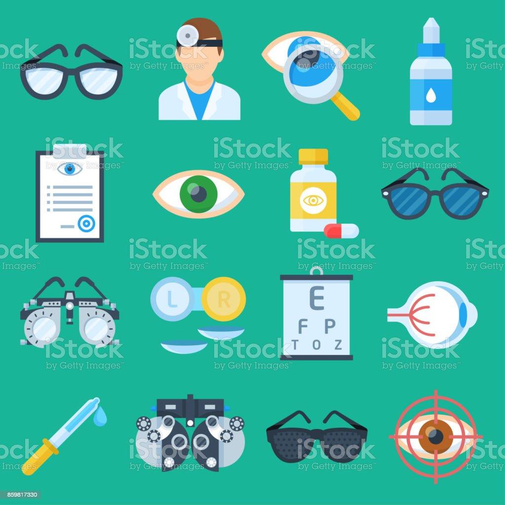 Auge-Arzt-Cartoon-Satz – Vektorgrafik