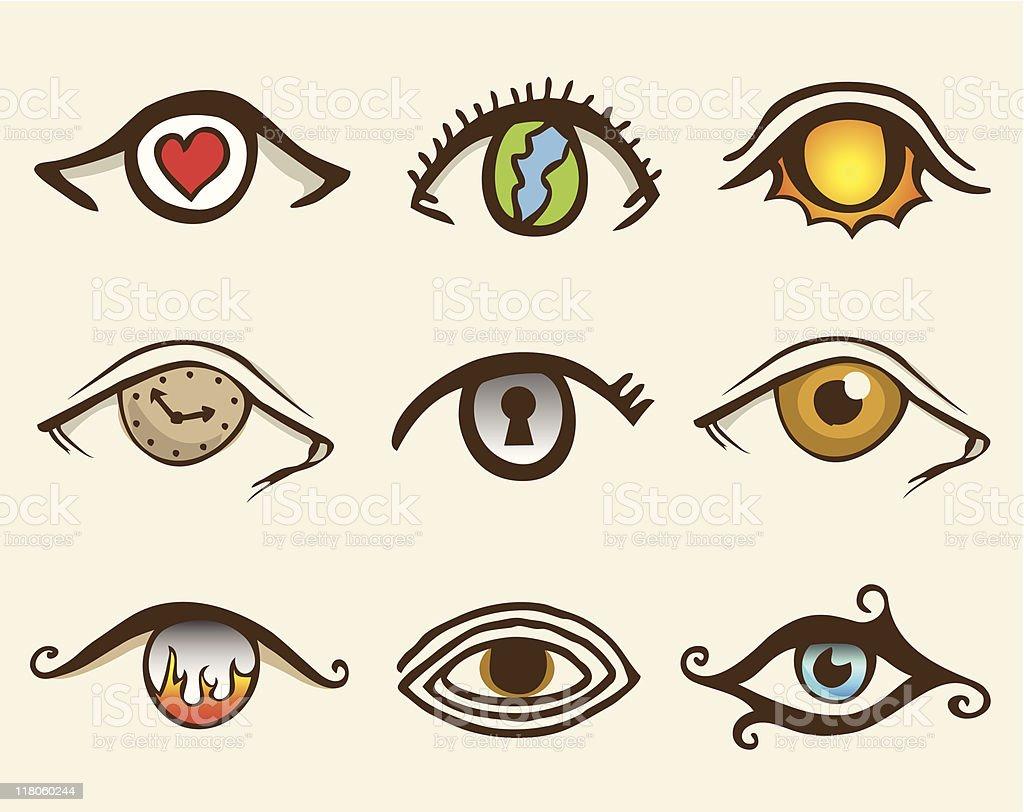 Eye Drawns (vector) royalty-free stock vector art