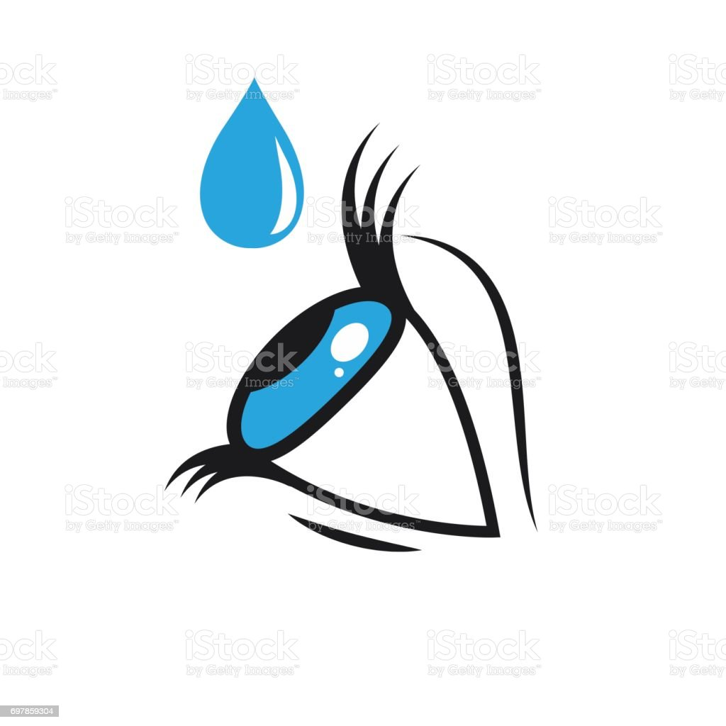 Eye drops vector art illustration