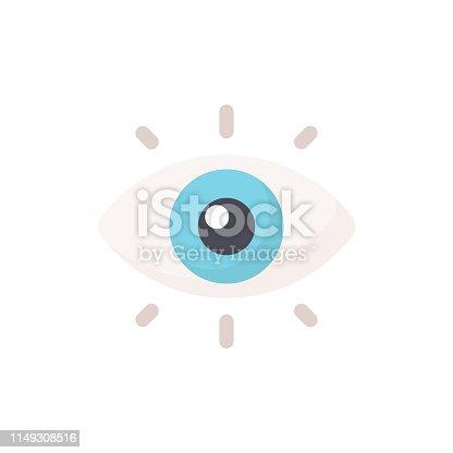 Eye Flat Icon.