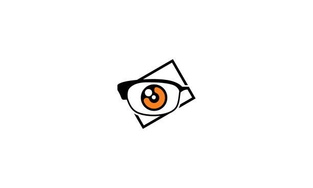 ilustraciones, imágenes clip art, dibujos animados e iconos de stock de tienda de gafas de salud vector icono de logo - optometrista
