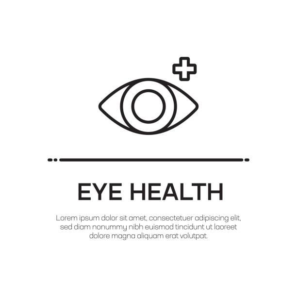eye health vector line icon-simple thin line icon, premium quality design element - illustration optician stock-grafiken, -clipart, -cartoons und -symbole