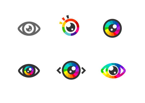 eye icon - eye symbol. colorful eye icons - глаз stock illustrations