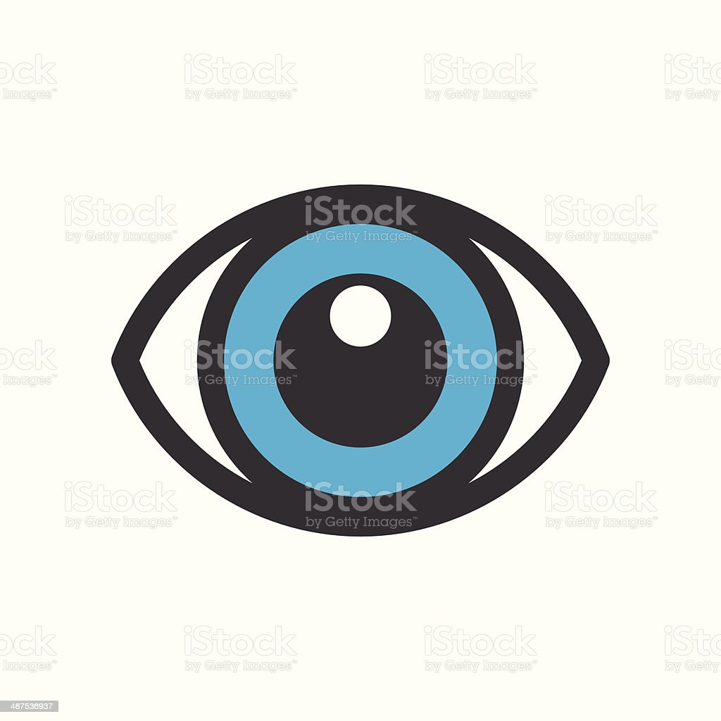 Eye icon isolated on white background vector art illustration
