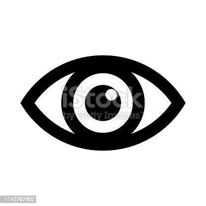 Eye icon logo. Look and Vision icons. Vector and illustration