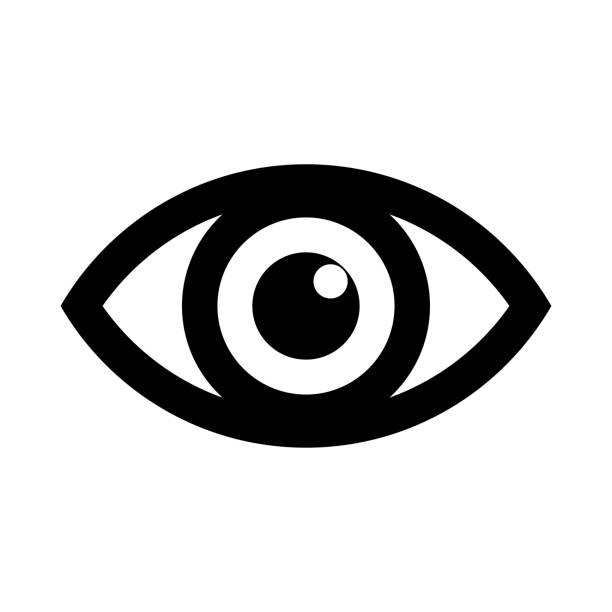 eye icon logo. look and vision icons. vector - глаз stock illustrations