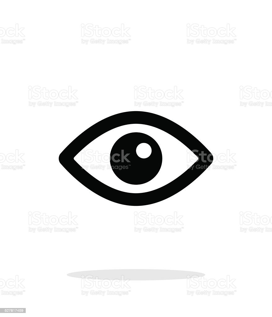 Eye icon on white background. vector art illustration