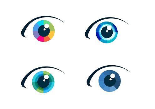 Eye Icon Set — стоковая векторная графика и другие изображения на тему Абстрактный