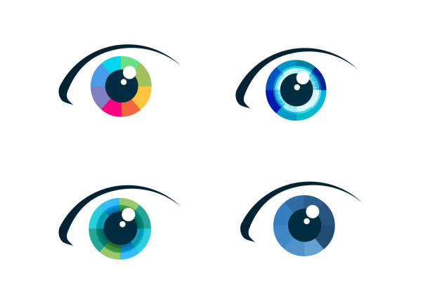 eye icon set - глаз stock illustrations