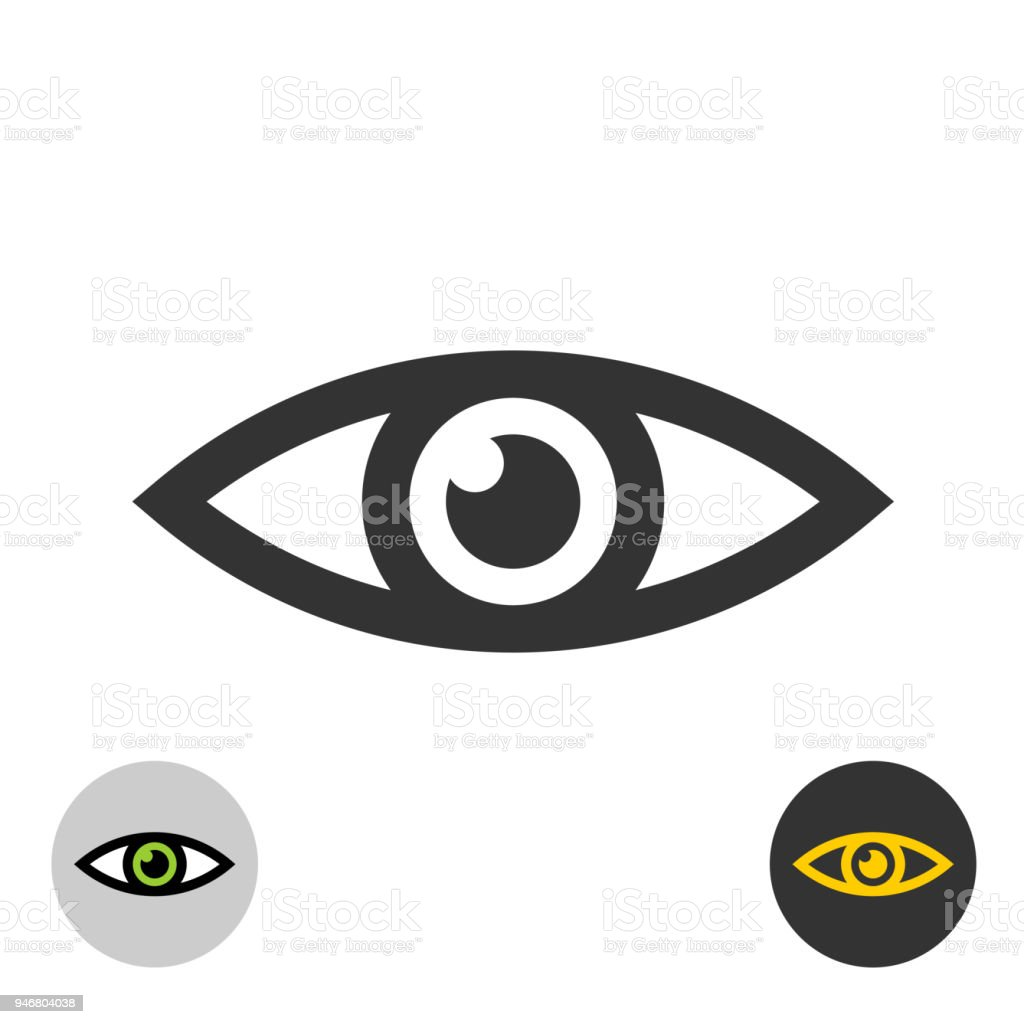 Eye Icon Simple Black Line Style Eye Symbol Stock Vector Art More