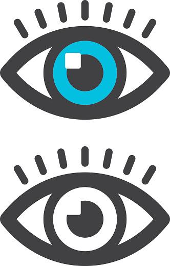 Значок Глаз — стоковая векторная графика и другие изображения на тему Векторная графика