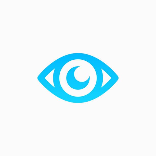 значок «глаз - глазное яблоко stock illustrations