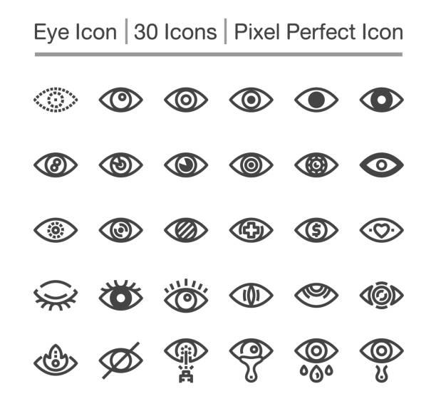 auge-symbol - auge stock-grafiken, -clipart, -cartoons und -symbole