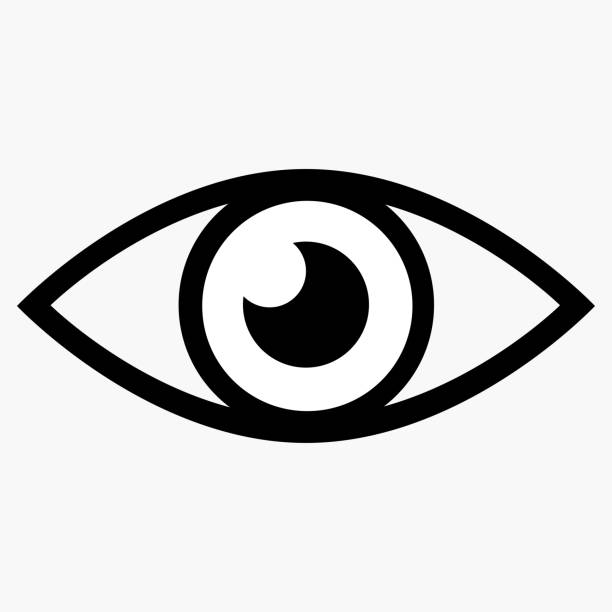 eye icon - панорамный stock illustrations