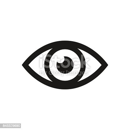 istock Eye icon. Vector illustration. 845329690