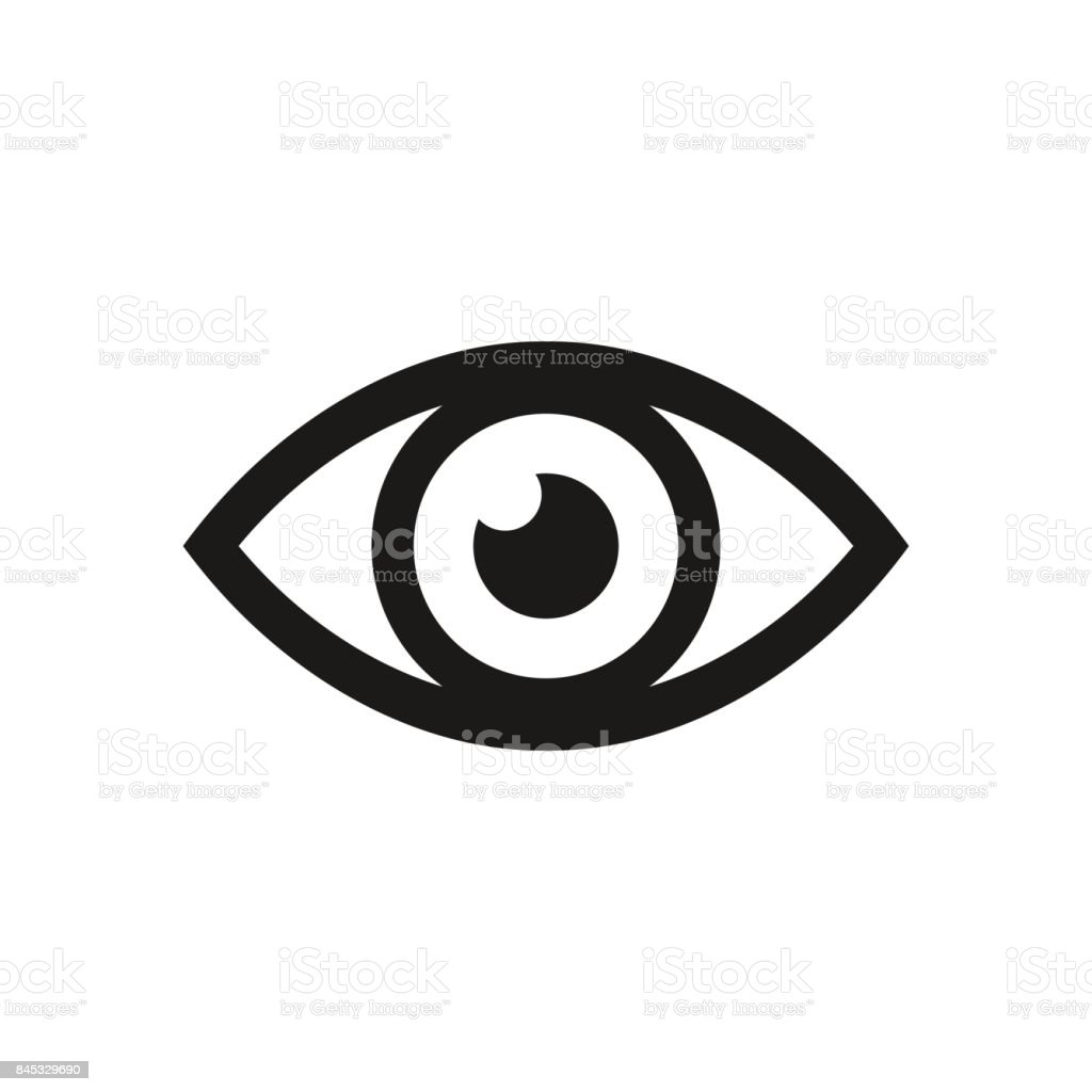 Eye icon. Vector illustration. vector art illustration