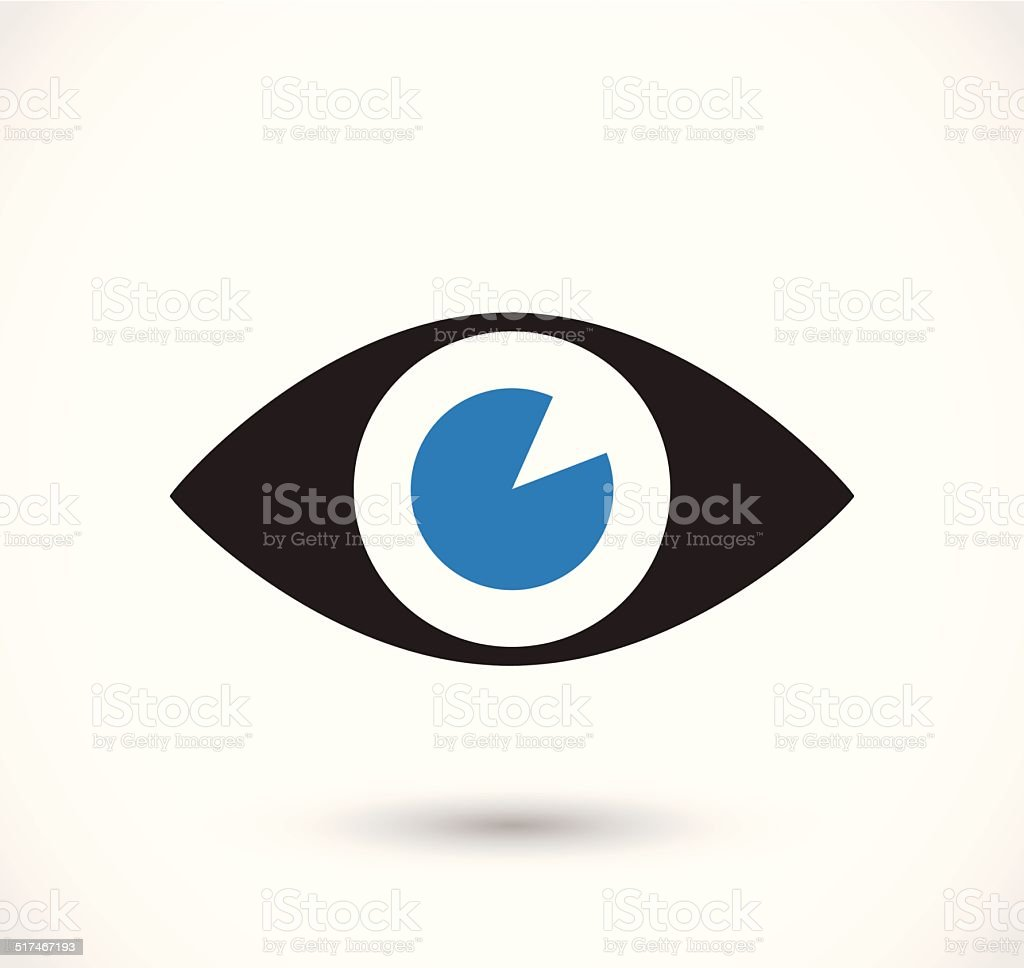Eye icon vector vector art illustration