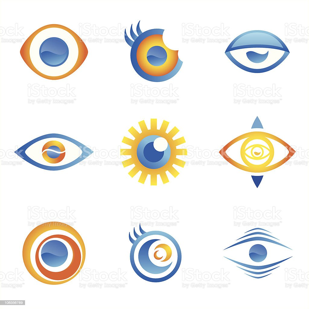 Eye Icons (vector) vector art illustration