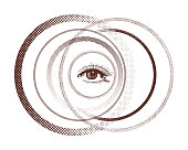 Eye in the Middle of Circles