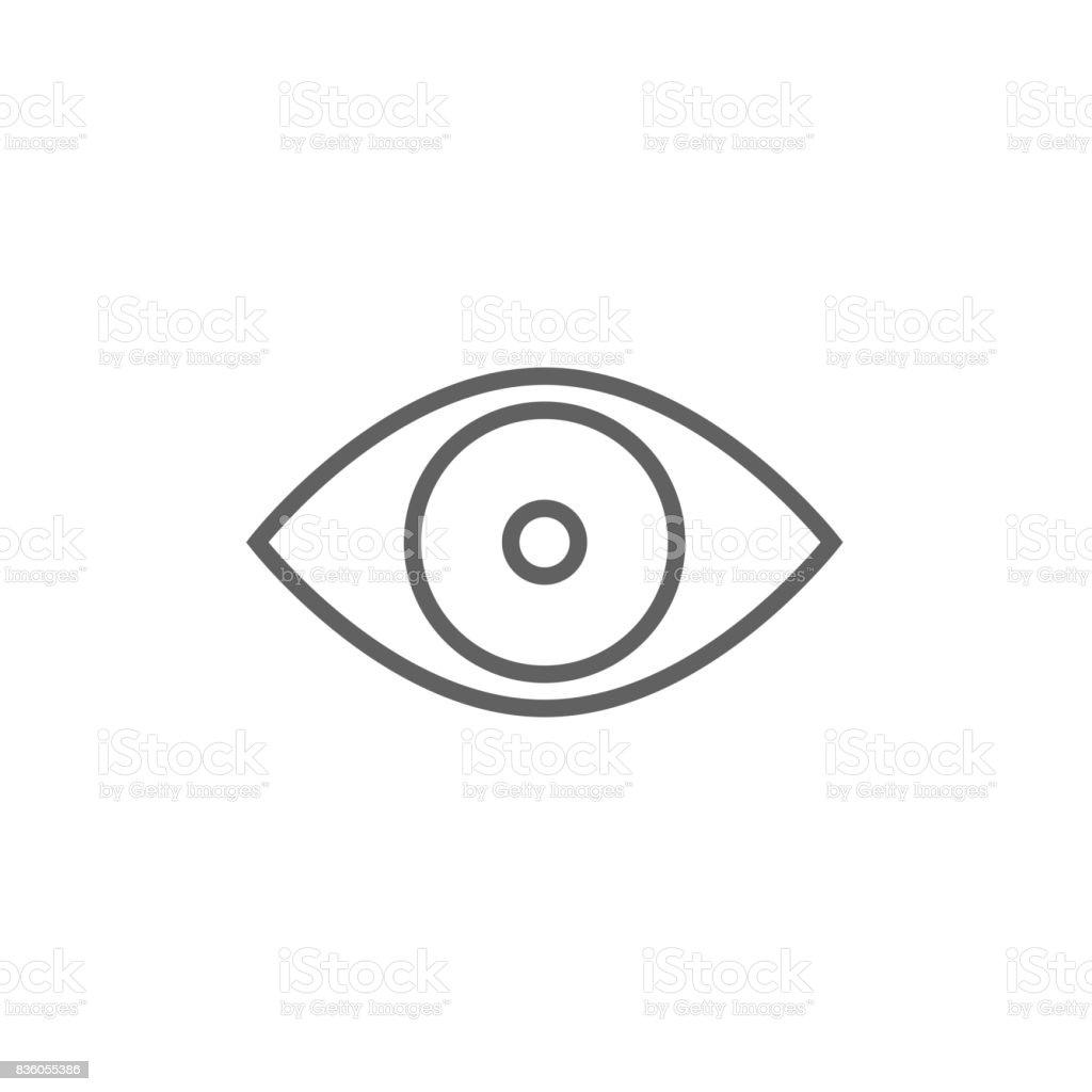 Eye line icon vector art illustration