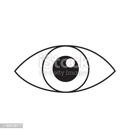 istock Eye line icon vector isolated on white 1153429177