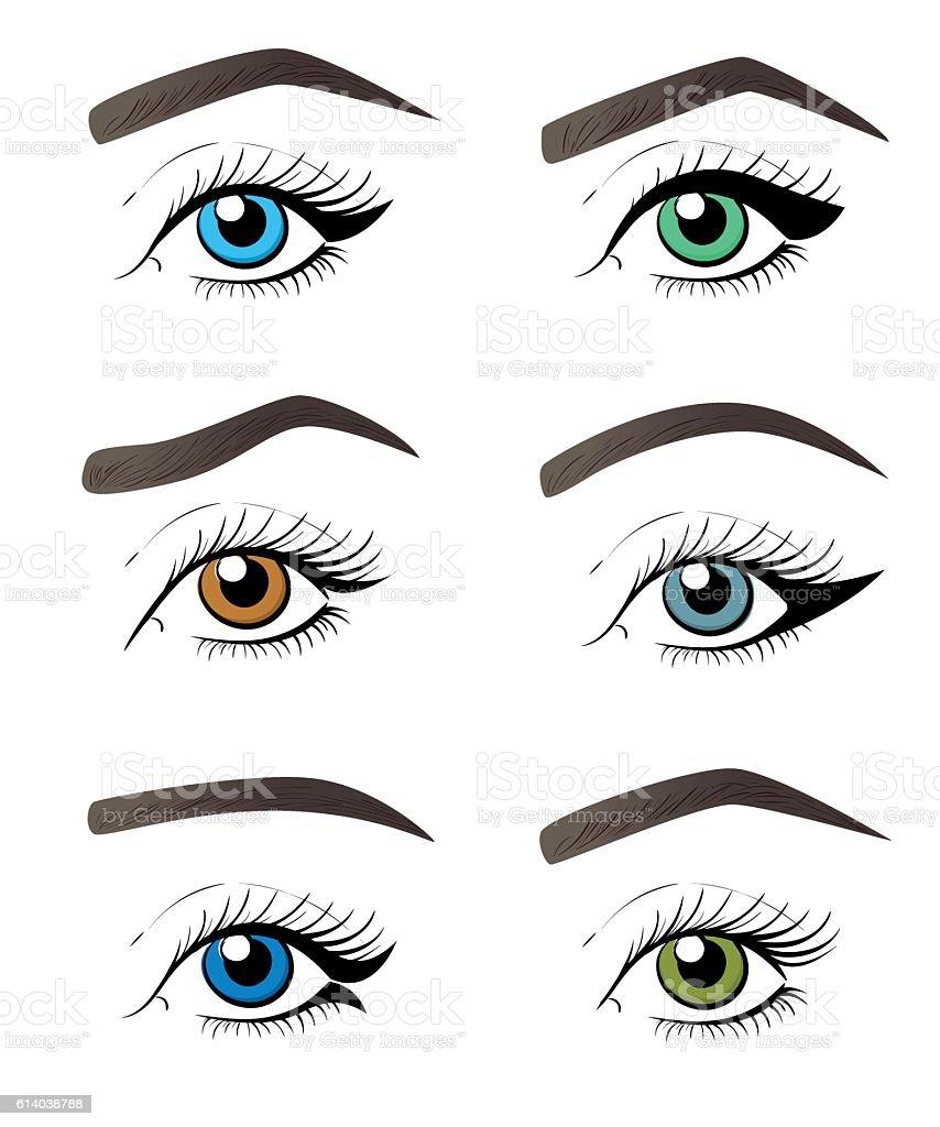 eye make up vector tutorial illustration concept for beauty salon rh istockphoto com  vector art eye tutorial
