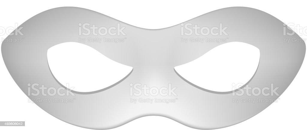 Máscara para los ojos en gris diseño - ilustración de arte vectorial
