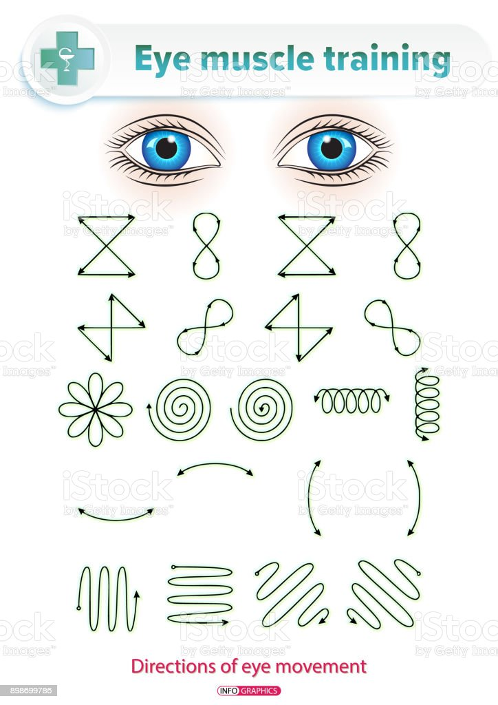 Eye Muscle Training vector art illustration