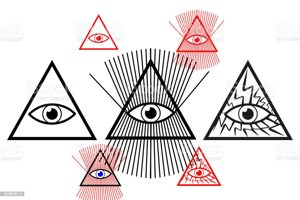 Dios Eye of - ilustración de arte vectorial