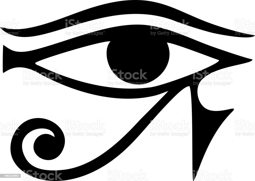 Eye of Horus - amulet royalty-free stock vector art