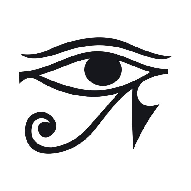 Eye of Horus icon, simple style Eye of Horus icon in simple style isolated on white background egypt stock illustrations