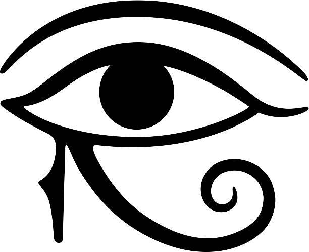 Eye of Horus  egyptian culture stock illustrations