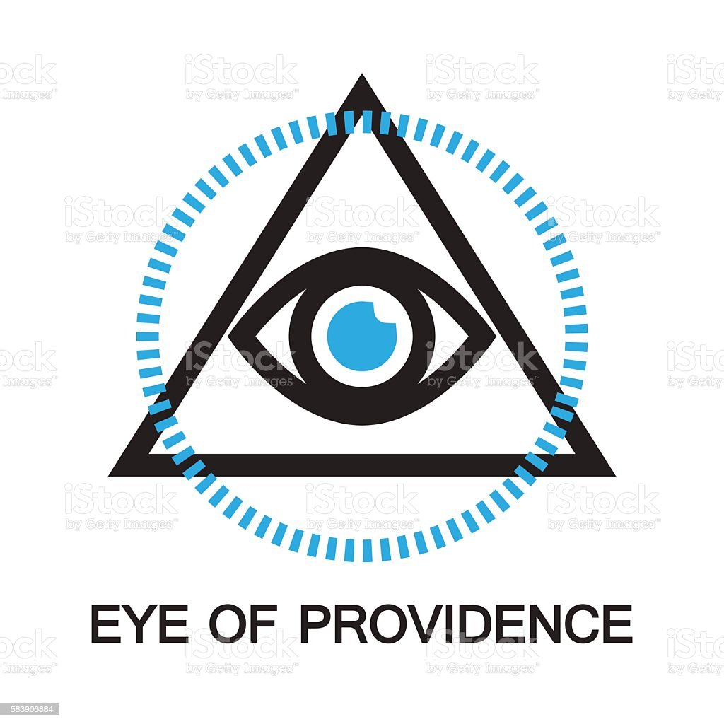 eye of providence icon and symbol stock vector art more images of rh istockphoto com eye of providence vector free All Seeing Eye Vector