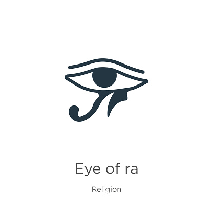Eye of ra icon vector. Trendy flat eye of ra icon from religion collection isolated on white background. Vector illustration can be used for web and mobile graphic design, logo, eps10