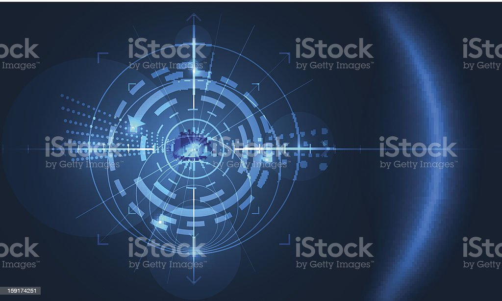 eye of technology vector art illustration