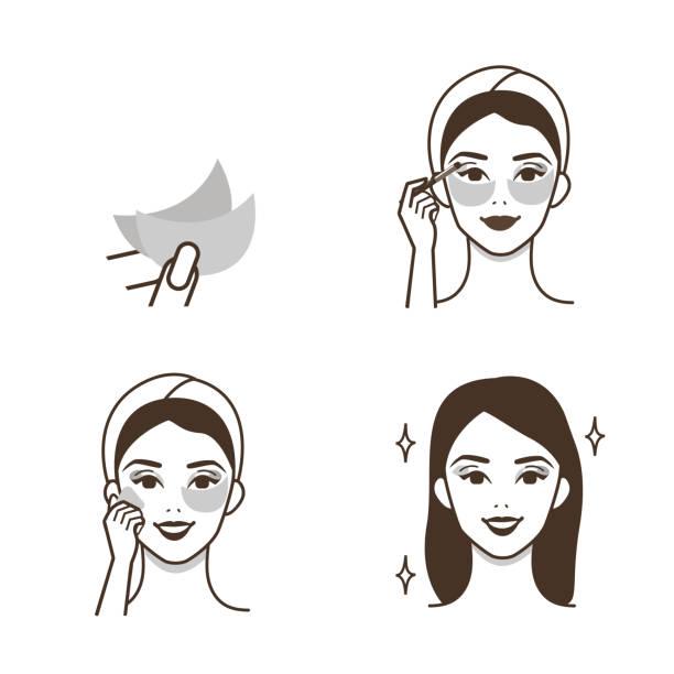 illustrazioni stock, clip art, cartoni animati e icone di tendenza di eye patches - pezze di stoffa