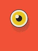 istock Eye poster illustration 1182474838