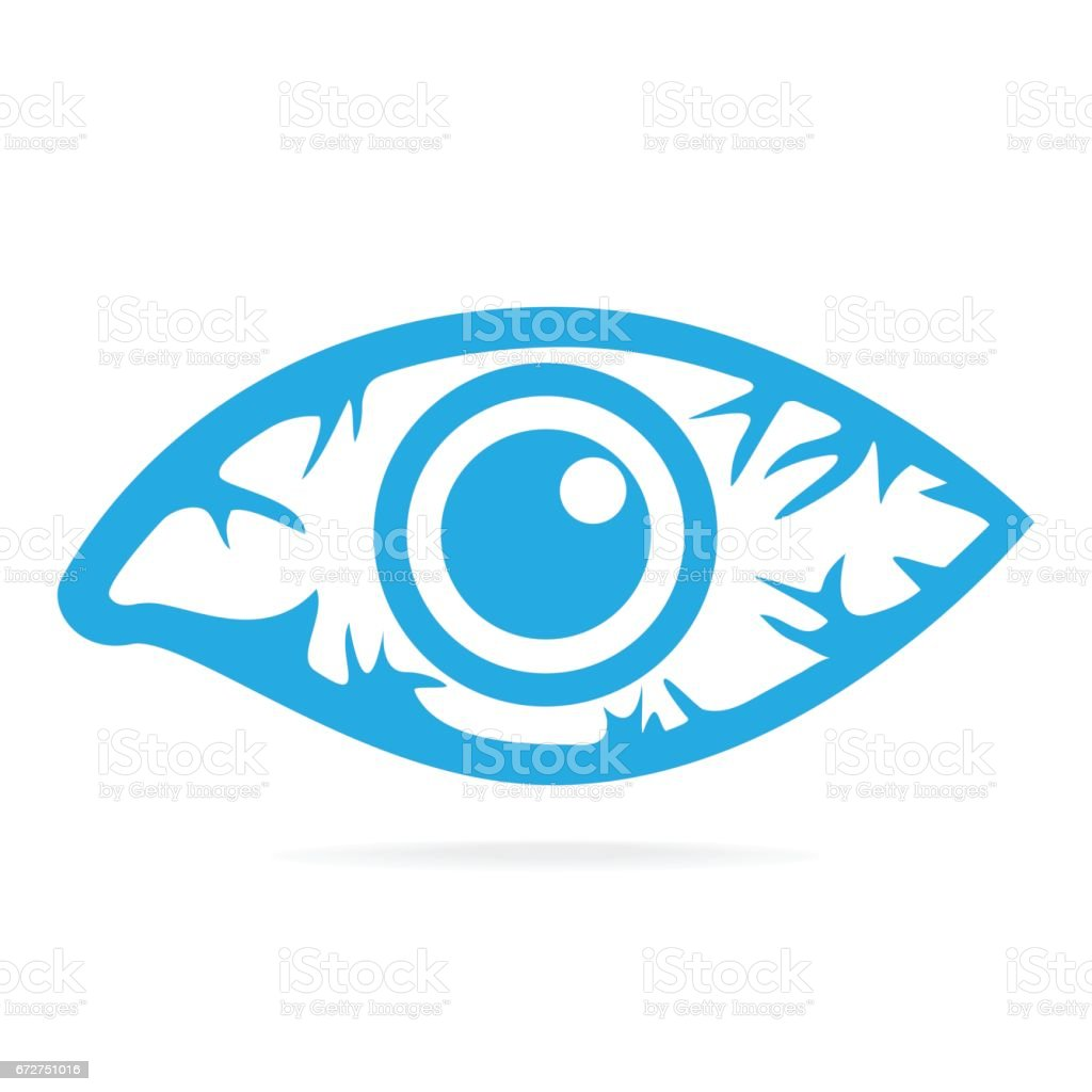 Eye redness icon, Inflammatory disease of eyes. vector art illustration