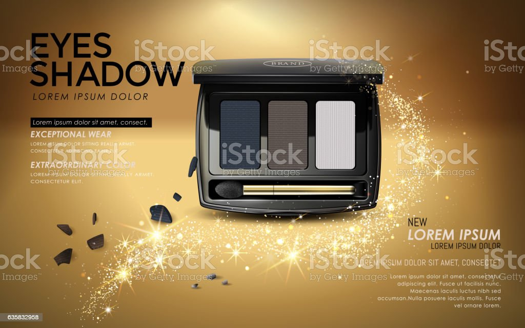 Eye shadow ads vector art illustration