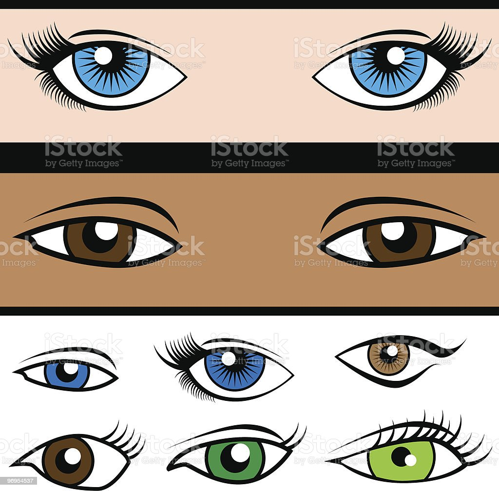 Eye Shape Set royalty-free eye shape set stock vector art & more images of african ethnicity