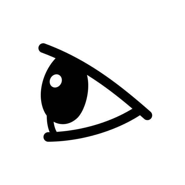 eye side view - глазное яблоко stock illustrations
