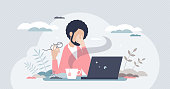 istock Eye strain and vision fatigue from reading and screens tiny person concept 1294991744