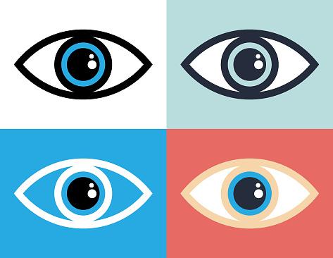 Eye symbol icon illustration