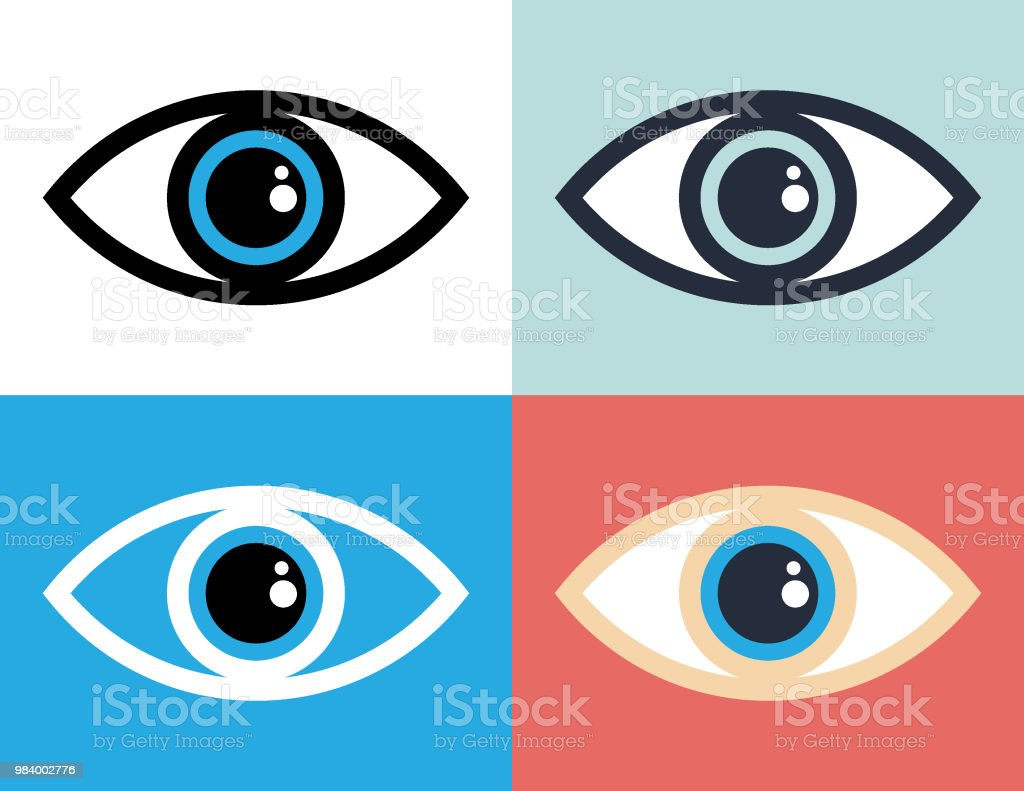Eye symbol icon illustration vector art illustration