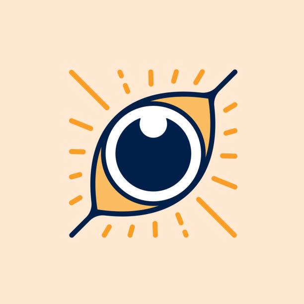eye symbol - третье око stock illustrations